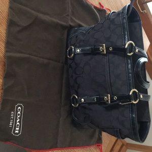 Black Coach purse, original cover